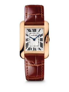 Cartier Tank Anglaise Small 18K Pink Gold & Alligator Strap Watch