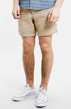 Men's Topman Stone Chino Shorts