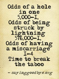 October 15 is right around the corner and it is National Pregnancy and Infant Loss Awareness Day. It's okay to talk about it. #miscarriage #taboo #talk