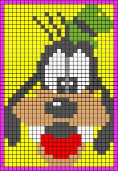 Goofy perler bead pattern