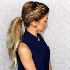 Gorgeous pony tail braid @blohaute #hudabeauty More