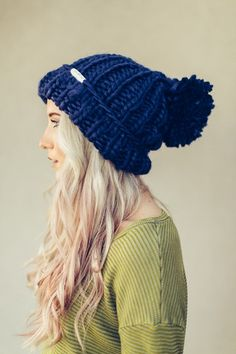 Chunky Pom Pom Beanie by Three Bird Nest | Bohemian Clothing - I think I might have to give in this year and purchase a bobble hat!!