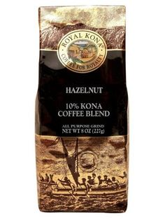 Hawaiian Value Pack Royal Kona Coffee Ground Hazelnut 4 Bags ** Click image to review more details.