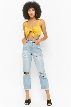 Product Name:Distressed Straight-Leg Jeans, Category:CLEARANCE_ZERO, Price:48