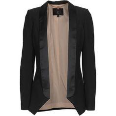 SLY 010 Neo Struc Black Open structured blazer