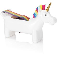 NPW-USA Unicorn Tape Dispenser ($11) ❤ liked on Polyvore featuring home, home decor, office accessories, accessories and unicorn