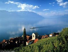 Lake Geneva, Switzerland  Has got to be one of THE most beautiful bodies of water and Picturesque drive thru European Countryside!!  To die for Gorgeous!!!!  I want to go back to explore all the quaint, peaceful little towns I saw.