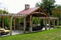 schöne wohnideen küche im innenhof gestalten dach