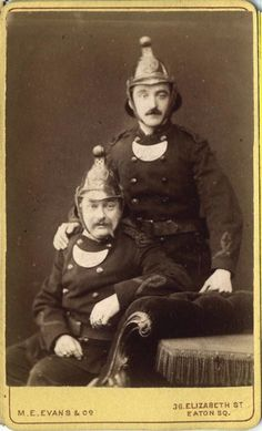 """English firefighters 1870""""s"""