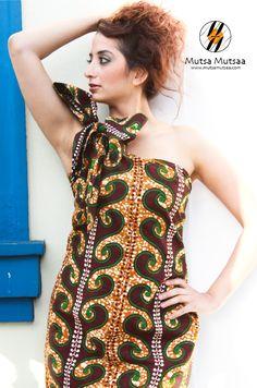 #MutsaMutsaa One Shoulder tie dress  #Fashion #Womenswear   #Mutsa Mankola
