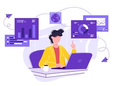 vector illustration of business, office workers are studying the infographic, the analysis of the evolutionary scale , Website Illustration, Flat Design Illustration, Business Illustration, Character Illustration, Digital Illustration, Simple Illustration, Vector Character, Character Design, Web Design