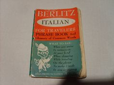 VINTAGE ITALIAN PHRASE BOOK 1954 | eBay