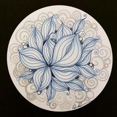 Zentangle - 073017. Artwork from Rebecca Kuan - #rebeccasecretbox Welcome to visit my FB Page: https://www.facebook.com/Rebecca.Zentanglebox/ #zentangle #zendoodle #doodle #doodleart #draw #drawing #tangle #art #artwork #sketch #zentangleart #zentangleinspiration #learnzentangle #zenart #hearttangles #blue