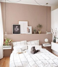 Home Interior Apartment .Home Interior Apartment Dusty Pink Bedroom, Pink Bedroom Walls, Pink Bedrooms, Home Bedroom, Bedroom Decor, Pink Walls, Room Interior, Interior Design Living Room, My New Room