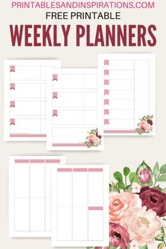 Monthly Printable Planner Template - March 2020 - Printables and Inspirations Pink Planner, Cute Planner, Planner Pages, Monthly Planner Template, Weekly Planner Printable, Printable Planner Stickers, Free Printables, Romance, March