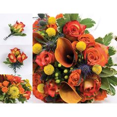 Wedding Collection - Earth Tone - 17 pc. $362 (for bridal, bridesmaids, boutonnieres and petals)
