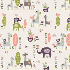 Colour and cute animals - Flora Waycott Design Kids Patterns, Wood Patterns, Pretty Patterns, Textile Patterns, Textiles, Graphic Design Pattern, Surface Pattern Design, Pattern Drawing, Pattern Art