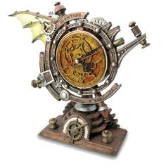 The Stormgrave Chronometer Steampunk Pedestal Clock