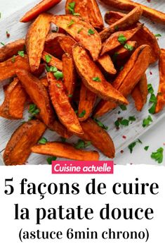 5 ways to cook a sweet potato (+ the cooking tip in 6 minutes flat) - Sans gluten - Chicken recipes healthy Healthy Summer Recipes, Healthy Chicken Recipes, Vegetable Recipes, Air Fryer Recipes Potatoes, Air Fryer Oven Recipes, Baked Potatoes, Sin Gluten, Air Fryer Sweet Potato Fries, Spinach Chips