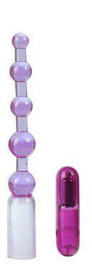 Ready-4-action vibrating anal beads - lavender (Package Of 7) by Pipedream Products. $125.77. Great to stock your shelfs. 7 Pack. great bedroom gift. Enjoy anal stimulation like nothing you've ever experienced before with this interactive pleasurizer. Like anal beads on caffeine these are guaranteed to give your tush a buzz! This anal vibrator features small-to-large lavender graduated beads so you can start small and work your way up to a snug fit accompanie...