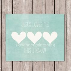 Jesus+Loves+Me+This+I+Know+Printable++by+LavenderPrintables,+$5.00
