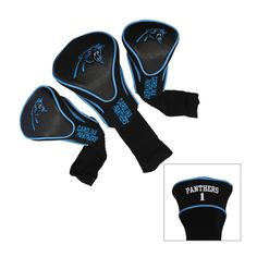 Team Carolina Panthers NFL Contour Wood Headcover Set