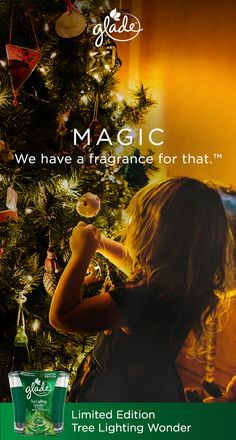 Need a holiday 2017 gift idea?  Share the memories of holiday magic this season by giving the Limited Edition Tree Lighting Wonder candle from Glade. Relive childhood memories of twinkling lights and stocking surprises – all mixed with the scent of fresh spruce. MAGIC. We have a fragrance for that. Glade Limited Edition fragrances are available now.