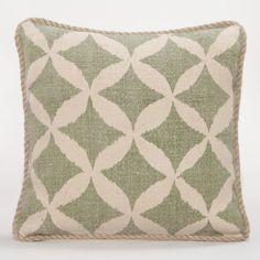 Green Animalia Jute Throw Pillow | World Market - $29.99