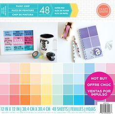 """Craft Smith """"Paint Chip"""" paper pad available @michaelsstores now!"""