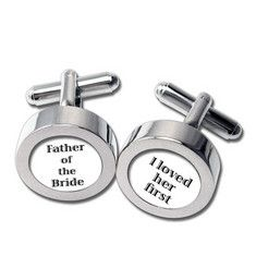 "Father Of The Bride Cufflinks $35.00 Size: 1/2"" Your father deserves a special gift on the day he gives away his little girl."