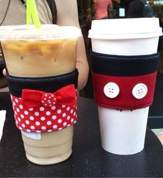 Disney coffee cup sleeves: step-by-step instructions on how to make these. #Disney #Craft disney crafts for adults #disney