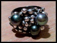 zilveren ring met zoetwaterparels