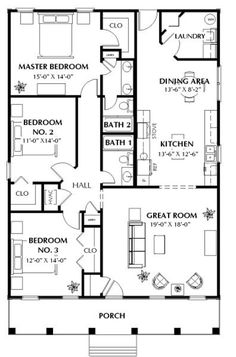 [ Three Bedroom Tidewater Small House Plans Ideal Spaces Houz Buzz ]   Best  Free Home Design Idea U0026 Inspiration