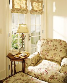 A comfy chair, a cup of coffee and a ray of sunlight.  Perfect.