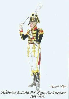 Maestro di musica del 8 rgt. fanteria di linea westfaliano