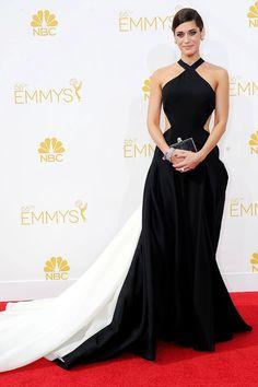 Lizzy Caplan Donna Karan Atelier Gown Emmy Awards 2014