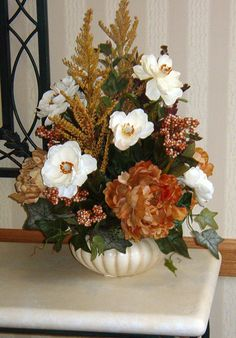 artificial arrangements for the home | Silk Flower Arrangement by Valerie Brott - SIlkly Irresistable Designs