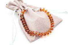 Natural Amber Bracelet, Raw Amber Bracelet, Baltic Amber Bracelet, Amber Bracelet, Silver and Amber Bracelet, Cognac Amber, Amber jewellery by BalticBeauty925 on Etsy
