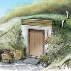 Stow your surplus underground! You can turn a never-used concrete septic tank into an old-fashioned walk-in root cellar to store your spuds, winter squash and so much more.data-pin-do=