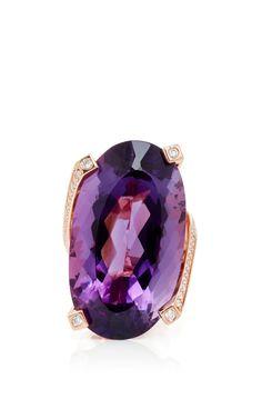 Jorge Adeler Amethyst Ring with diamonds in 18k rose gold