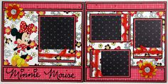 Minnie Mouse Premade Scrapbook Pages by Syrena's Scraps, via Flickr