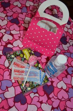 Doc Mcstuffins party favors. Hand sanitizer, bandaids, suckers, cute kleenex packages...just what the doctor ordered