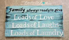 Lewisville Love: Laundry room sign made out of pallet wood