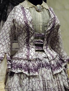"""Exhibition - """"Fashion of the Victorian Era"""" Historic fashion clothing and accessories of the to from the collection of the Alexandre Vassillev. Victorian Era Fashion, 1850s Fashion, Victorian Costume, Vintage Fashion, Vintage Style, Victorian Dresses, Vintage Gowns, Vintage Outfits, Vintage Clothing"""