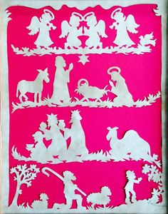 Nativity Story ORIGINAL Handmade Paper Cutting by PaperSnipz, $174.95
