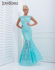 Tina~ since you were looking for SR Prom dresses :) An absolutely stunning lace prom dress by Tony Bowls Evenings.