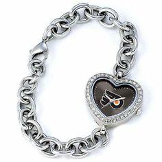 Ladies NHL Philadelphia Flyers Heart Watch Jewelry Adviser Nhl Watches. $60.00