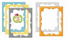 Ms. Fultz's Corner! FREE--These frames are too cute to pass up! I use them around newsletters, binder covers, student writing, photographs, teacher products, and so much mor...