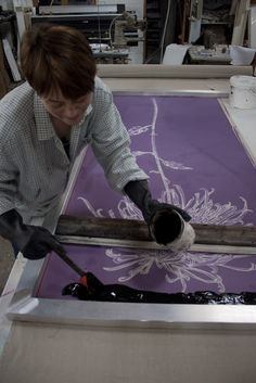 Hand pulled screen print
