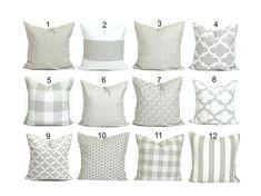 Gray Pillow Covers, Farmhouse Pillow Cover, Throw Pillow Cover, Accent Pillow Cover, Couch Pillow Co Neutral Pillows, Grey Throw Pillows, Floral Pillows, Couch Pillows, Decor Pillows, Accent Pillows, Sofa, Couch Pillow Covers, Photo Pillows